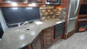 class a motorhome rental kitchen