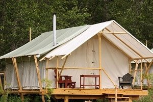 glamping cabin tent